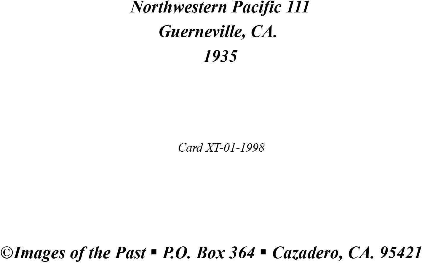 Card XT-01-1998-back